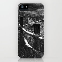 Black & White fance iPhone Case