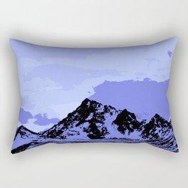 Chugach Mountains - Blue Pop Art Rectangular Pillow