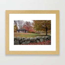 Babson Museum on a rainy October day 10-24-18 Framed Art Print