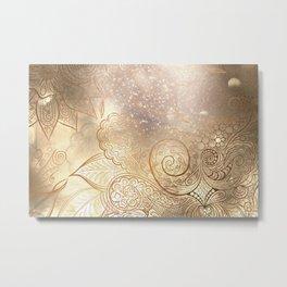 Abstract bronze Metal Print