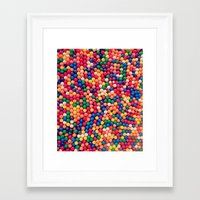gumball Framed Art Prints featuring Gumball Pop by WayfarerPrints