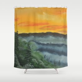 What lies beyond the valley Shower Curtain
