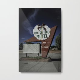 Cotton Boll Motel Sign Route 66 Metal Print