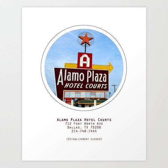 Alamo Plaza Hotel Courts Poster Art Print