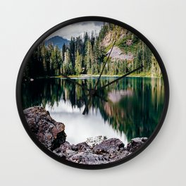 Northern Cascade Mountains Wall Clock