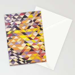 Triangle Pattern No.8 Black and Yellow Stationery Cards