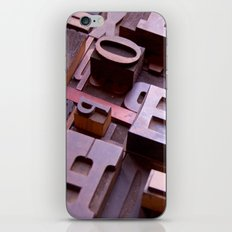 3D Letters - Typography Photography™ iPhone & iPod Skin