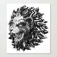 lion Canvas Prints featuring Lion by BIOWORKZ