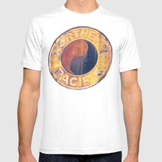 Rust and Memories Mens Fitted Tee MEDIUM White