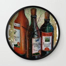 Vintage Georgian Wine Fresco Wall Clock