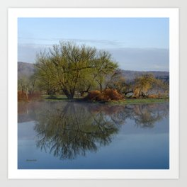 Peaceful Reflection Landscape Art Print