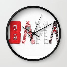 BAMA - Roll Tide Wall Clock