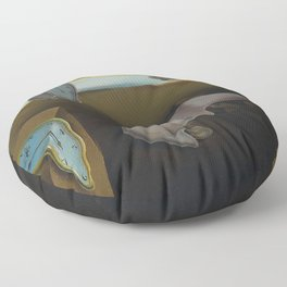 The Persistence of Memory Floor Pillow