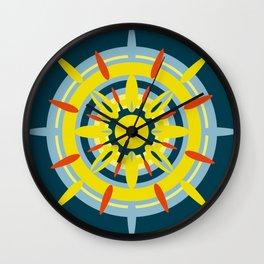 Yellow Sicily Wall Clock