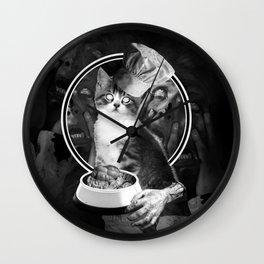 Feed me hooman! Wall Clock