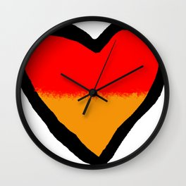 German Heart Wall Clock