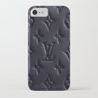 lv iPhone & iPod Cases featuring Black LV by I Love Decor