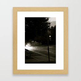 A Modern Foggy Night Framed Art Print