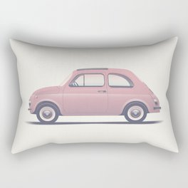 Fiat 500 Retro version Rectangular Pillow