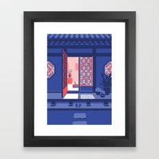 Hanok - Night Framed Art Print