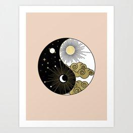 Yin and Yang Theme Art Print