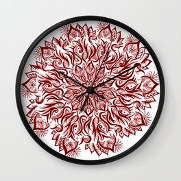 Fire-Garnet Wall Clock