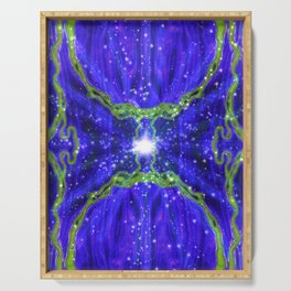 Portal of Thoughts - Power of light Blue Serving Tray