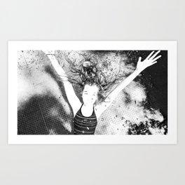 Dans la piscine 1 Art Print