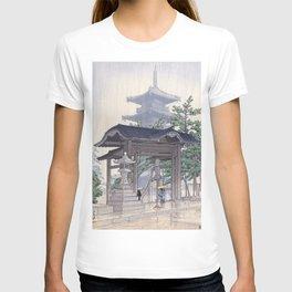 Kawase Hasui Woodblock Print - De Zensetsu tempel in Sanshu T-shirt