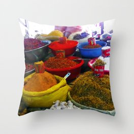 Red Chile and Spice Throw Pillow