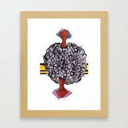 Afro Opposites Framed Art Print