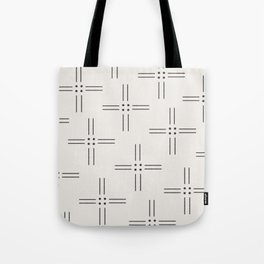 Worn Dots + Lines Tote Bag