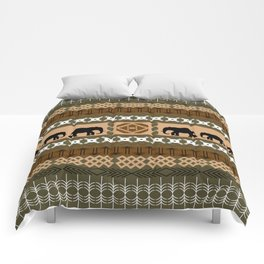 African Elephant Pattern Comforters