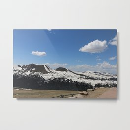 Snowcapped Mountains Metal Print