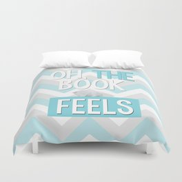 Oh, the book feels! Duvet Cover