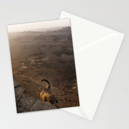 Ibex Over the Ramon Crater Stationery Cards