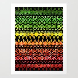 One Love Tribal {black} Art Print