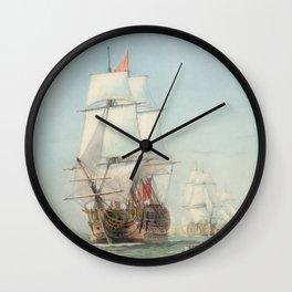 Vintage Ship Art Wall Clock