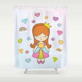 Princess and Diamonds Shower Curtain