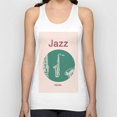 Jazz Relax and play sax Unisex Tank Top