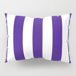 Pixie Powder violet - solid color - white vertical lines pattern Pillow Sham
