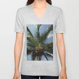 Coconut Palm Tree Unisex V-Neck
