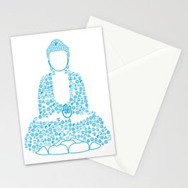 Buddha Symbol typography Stationery Cards