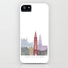 Groningen skyline poster iPhone Case