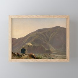 View of Bozen with a Painter Framed Mini Art Print