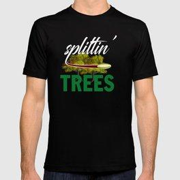 Splittin' Trees Funny Disc Golf T-shirt