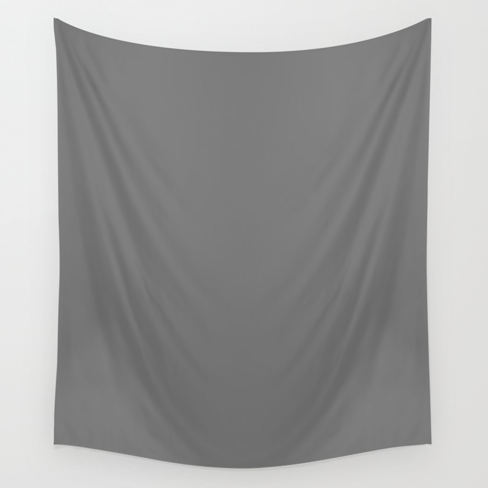 Sonic Silver - Solid Color Wall Tapestry by Makeitcolorful TPS8701943