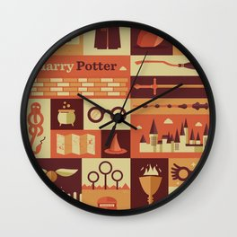 All character Harry poter Wall Clock