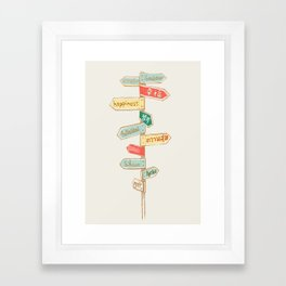Happiness is everywhere Framed Art Print