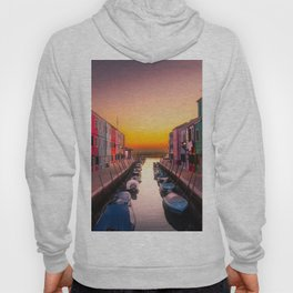 Venice Italy Boats Sunset Photography Hoody
